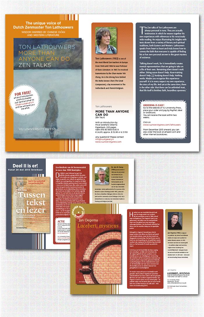 ontwerp promotiemateriaal VU – digitale flyers, een voorbeeld uit de categorie zelfstandige publicaties en studieboeken uitgegeven door VU University Press