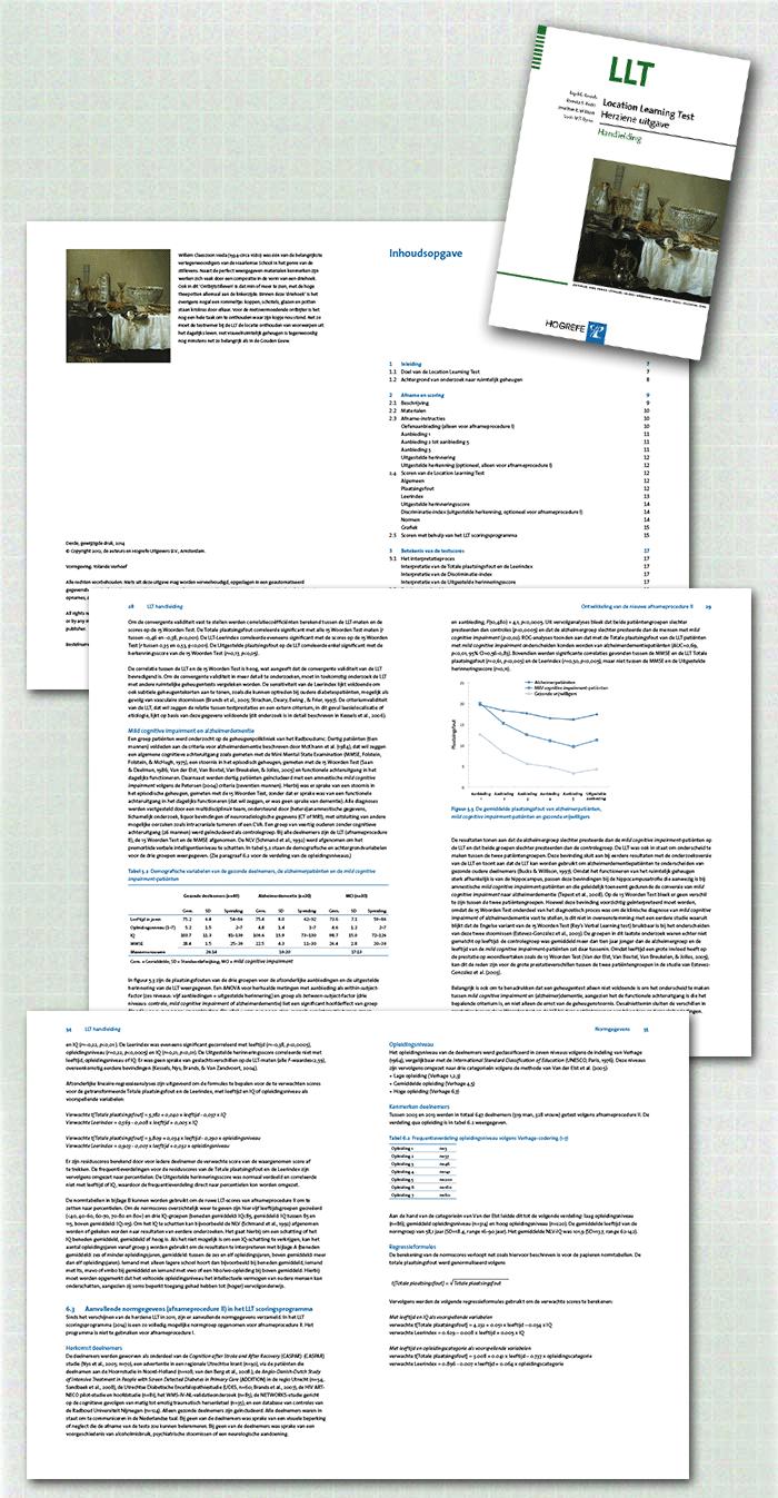 spreads LLT-handleiding, een voorbeeld uit de categorie tests en handleidingen uitgegeven door Hogrefe uitgevers