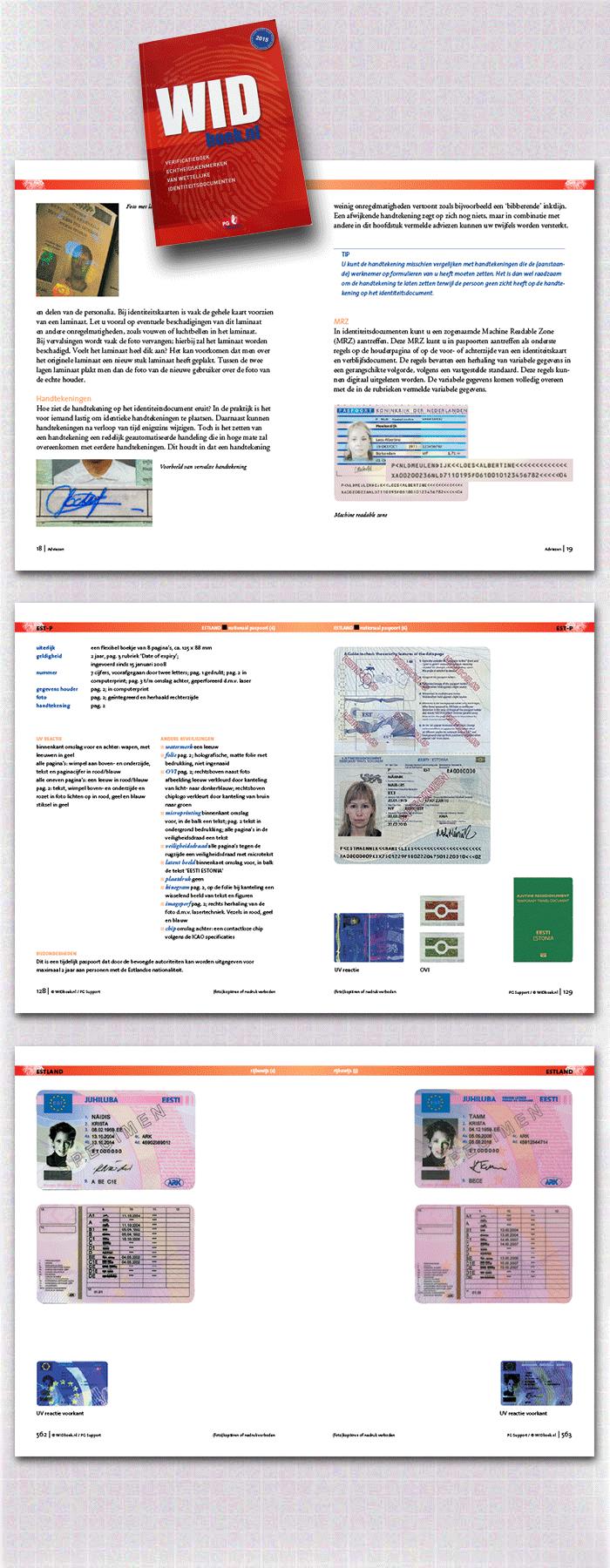 spreads binnenwerk WIDboek, onderdeel van de categorie naslagwerken, rapporten en gidsen
