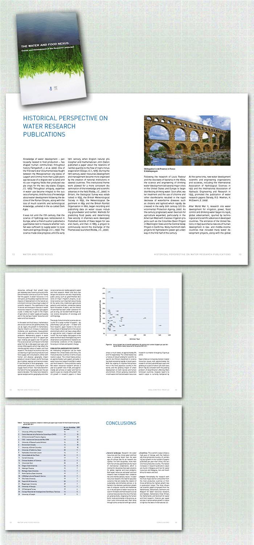 spreads rapport The Water and Food Nexus, onderdeel van de categorie naslagwerken, rapporten en gidsen