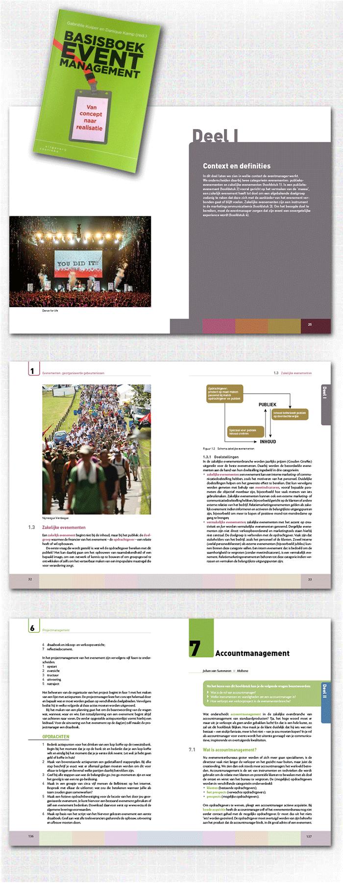 spreads uit binnenwerk boek basisboek eventmanagement